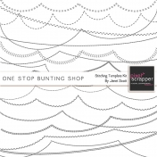 One Stop Bunting Shop- Stitching Template Kit