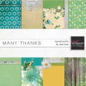 Many Thanks- Journal Card Kit