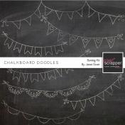 Chalkboard Bunting Doodle Kit 1