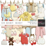 Oh Baby, Baby- Doodled Clothing and Toys Kit