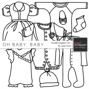 Oh Baby, Baby- Doodle Templates Set 1