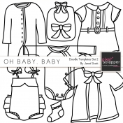 Oh Baby, Baby- Doodle Templates Set 2
