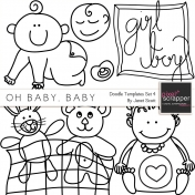 Oh Baby, Baby- Doodle Templates Set 4