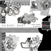Oh Baby, Baby- Element Template Kit