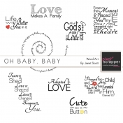 Oh Baby, Baby- Word Art Kit