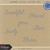 Summer Fields- Word Art Kit