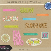 Garden Party- Word Art Kit