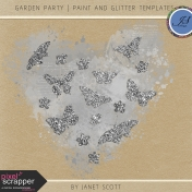 Garden Party- Paint and Glitter Template Kit