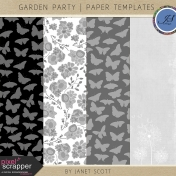 Garden Party- Paper Overlay Template Kit