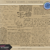 Toolbox Stamps- Handwriting Kit