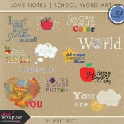 Love Notes- School Word Art