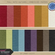 Fall Into Autumn- Embossed Paper Kit