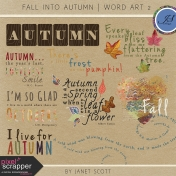 Fall Into Autumn- Word Art Kit