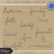 Fall Into Autumn- Wire Word Art Kit