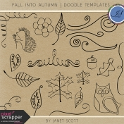 Fall Into Autumn- Doodle Template Kit