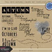 Fall Into Autumn- Word Art Template Kit