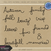 Fall Into Autumn- Word Art Doodle Templates