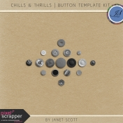Chills & Thrills- Button Template Kit
