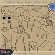 Chills & Thrills- Doodle Template Kit 1