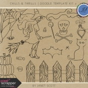 Chills & Thrills- Doodle Template Kit 2