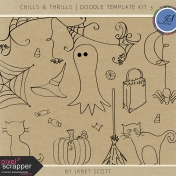 Chills & Thrills- Doodle Template Kit 3