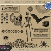 Chills & Thrills- Stamp Template Kit
