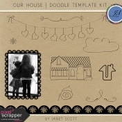 Our House- Doodle Template Kit