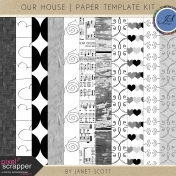 Our House- Paper Template Kit