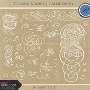 Toolbox Stamps- Calligraphy Kit 1