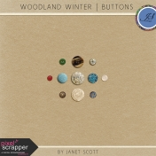 Woodland Winter- Button Kit