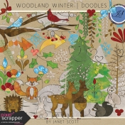 Woodland Winter- Doodle Kit
