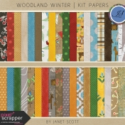 Woodland Winter- Paper Kit