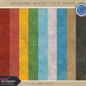 Woodland Winter- Solid Paper Kit