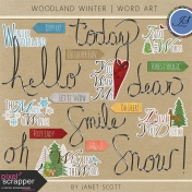 Woodland Winter- Word Art Kit