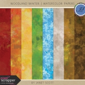 Woodland Winter- Watercolor Paper Kit