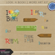 Look, a Book!- Word Art Kit