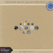 Woodland Winter- Button Template Kit