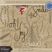 Woodland Winter- Doodle Template Kit 1