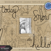 Woodland Winter- Doodle Template Kit 2