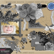 Woodland Winter- Element Template Kit