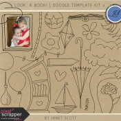 Look, a Book!- Doodle Template Kit 2