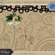Look, a Book!- Doodle Template Kit 3