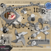 Look, a Book!- Element Template Kit