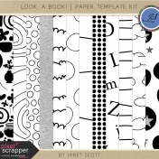 Look, a Book!- Paper Template Kit