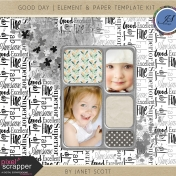 Good Day- Element & Paper Template Kit
