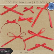 Toolbox Bows 001- Red Bows