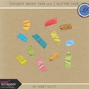Toolbox Washi Tape 001- Glitter Tape Kit