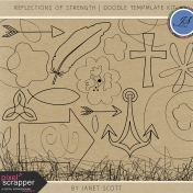 Reflections of Strength- Doodle Template Kit