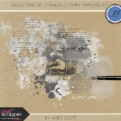 Reflections of Strength- Stamp Template Kit
