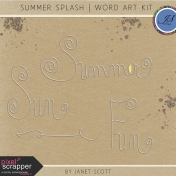 Summer Splash- Word Art Kit